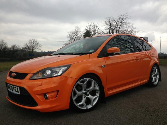 Used ford focus 2008 orange hatchback petrol manual for sale in stafford uk