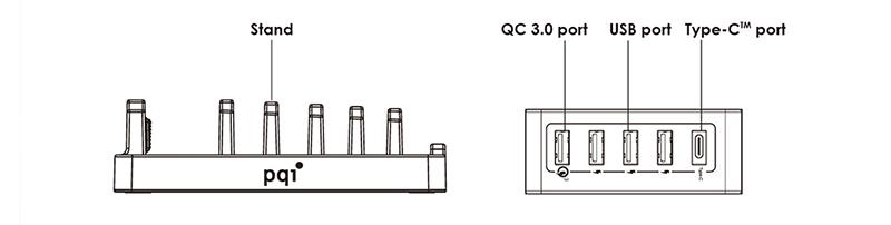 0 5 port快速充电器 (加赠五格平板手机架)
